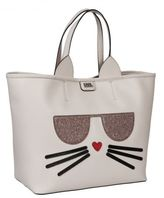 Karl Lagerfeld Kitty Embossed Tote