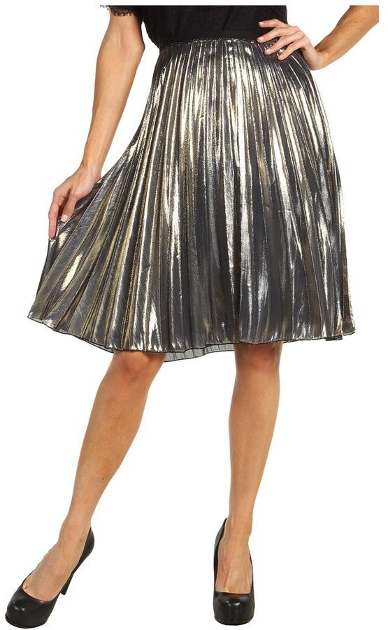 Rachel Roy Sunburst Skirt (Metallic Silver Gold) - Apparel
