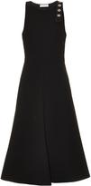 Balenciaga Double-faced crepe sleeveless dress