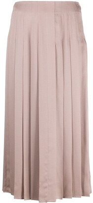Agnona High-Waisted Pleated Skirt