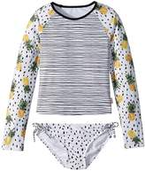 Seafolly Pineapple Daze Long Sleeve Surf Set Girl's Swimwear Sets