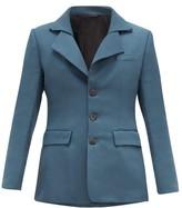 Namacheko Tuuwa Press-studded Collar Triple-buttoned Blazer - Mens - Blue