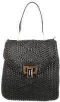 Kara Ross Woven Leather Satchel