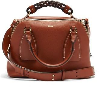 Chloé Daria Medium Leather Cross-body Bag - Dark Brown