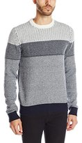 French Connection Men's Mechanical Mono Knits Crew Neck Sweater