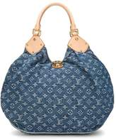 Louis Vuitton Blue Monogram Denim Mahina XL