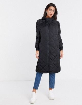 Selected maddy quilted coat in black