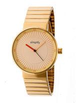Simplify The 4600 Unisex Gold Tone Bracelet Watch-Sim4603