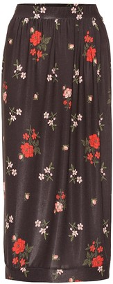 Simone Rocha Floral jersey midi skirt