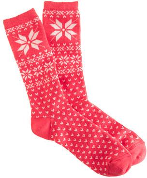 J.Crew Snowflake Fair Isle trouser socks