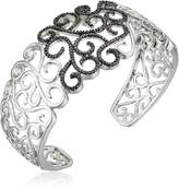 Amazon Collection Sterling Silver Diamond Accent Filigree Cuff Bracelet