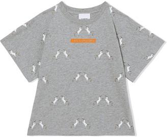 BURBERRY KIDS unicorn slogan-print T-shirt