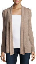 Neiman Marcus Cashmere Basic Open-Front Cardigan, Tan