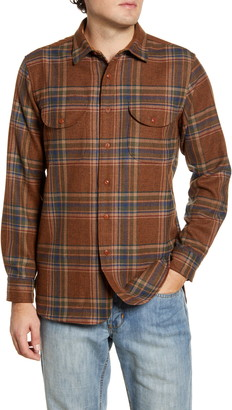 Pendleton Buckley Plaid Button-Up Wool Flannel Shirt