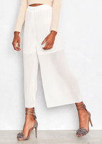 Missy Empire Dara White Pleated Wide Leg Culottes
