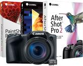 Canon PowerShot SX420 IS Digital Camera with 16GB MicroSD EVO Memory Card and Digital Creative Suite 2.0 - Black