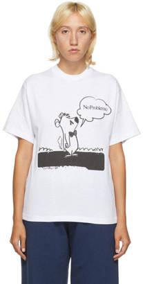 Aries White Stoner Bear T-Shirt