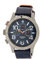 Nixon Men&s 48-20 Chrono Leather Watch