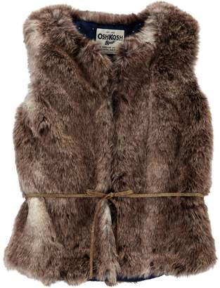 Osh Kosh Oshkosh Bgosh Girls 4-14 Faux Fur Vest