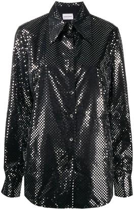 Magda Butrym Mirror-Embellished Shirt