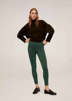 MANGO Colour leggings green - 1 - Women