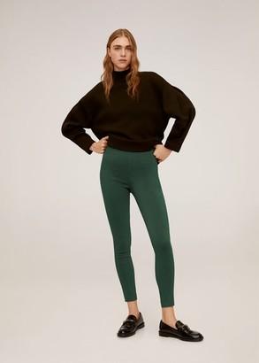 MANGO Colour leggings green - 2 - Women