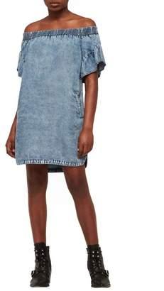 AllSaints Adela Off the Shoulder Tencel(R) Lyocell Dress