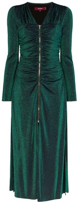 Sies Marjan zip front sparkly midi dress