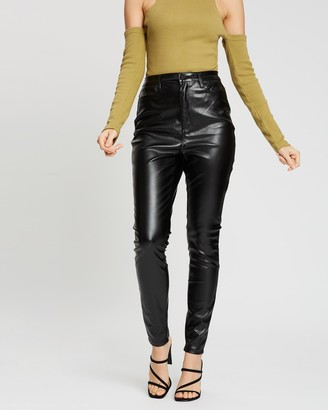Missguided Faux Leather Trousers
