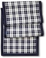 Threshold Navy Blue Plaid Table Runner Runner - Cotton - 14 x 72 inches