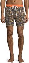 Michael Bastian Camouflage-Print Swim Trunks