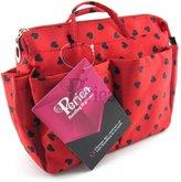 Periea Beauty Cosmetic Handbag Organizer Liner Insert Small - with Black Hearts - Sash