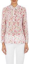 Barneys New York Women's Floral Voile Shirt-WHITE