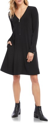 Karen Kane V-Neck A-Line Dress