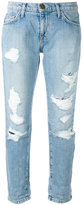 Current/Elliott cropped distressed jeans - women - Cotton - 31