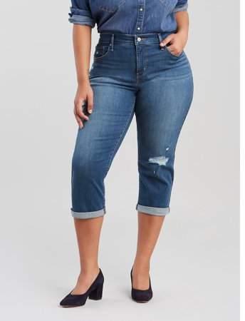 Levi's Women's Plus Size Shaping Capri Jeans