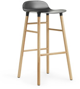 Normann Copenhagen Form Barstool H75cm Black/Oak