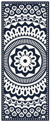 Overstock American Art Decor 2' x 5' Vinyl Floor Mat Geometric Mandala - 2' x 5'