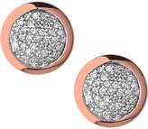 Links of London Diamond Essentials 18ct Gold Vermeil Diamond Pave Round Stud Earrings