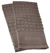 Cuisinart 100% Cotton Terry Super Absorbent Kitchen Towel, Checkered, Grey- 2pk, Perfect for Drying Dishes & Hands, Machine Washable