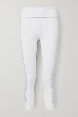 Fendi Rama Printed Stretch Leggings - White