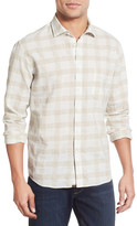 Billy Reid Standard Fit Plaid Linen Sport Shirt