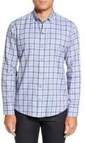 Zachary Prell Men's Lobban Slim Fit Check Sport Shirt