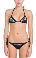 Hurley Black Cutout String Bikini Bottom