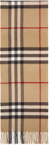 Burberry Tan Cashmere Giant Icon Scarf