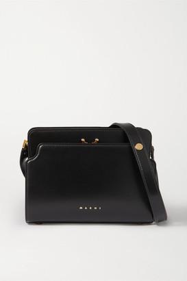 Marni Trunk Reverse Small Leather Shoulder Bag - Black