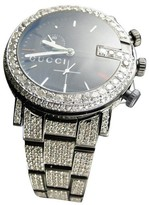 Gucci Ya101331 Watch 17 Ct Diamond Fully Iced Out Mens Watch