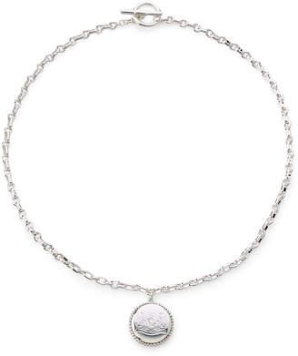 Lauren Ralph Lauren Silver-Tone Crest Pendant Necklace