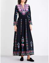 Ulla Johnson Irina embroidered silk-twill maxi dress