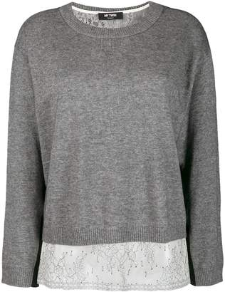 Twin-Set boxy jumper with slip top